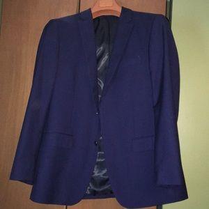 Mens 44R navy blue suit jacket